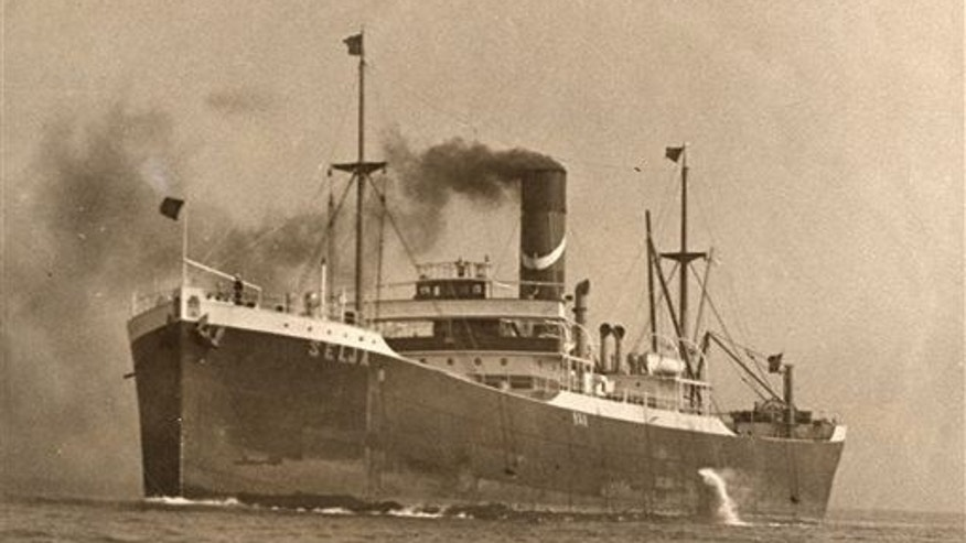 This undated photo shows the tramp freighter SS Selja, which was found by NOAA on Sept. 12, 2014, off the California coast near the Farallon Islands. The Selja sank on Nov. 22, 1910.