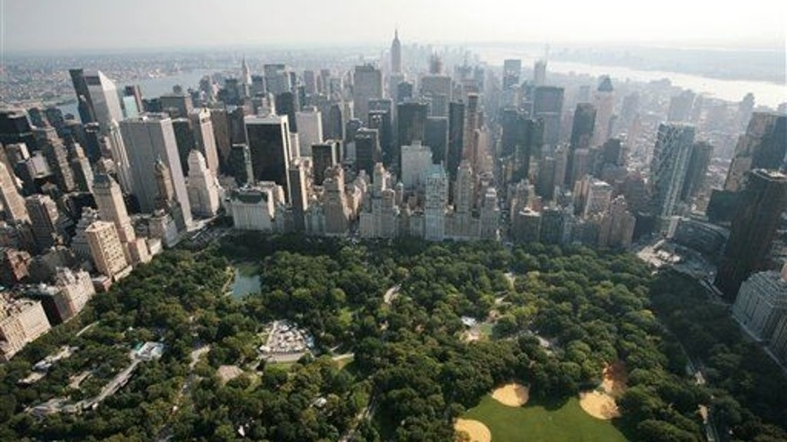 Central Park and midtown Manhattan are shown in this aerial view Wednesday, Aug. 29, 2007, in New York.