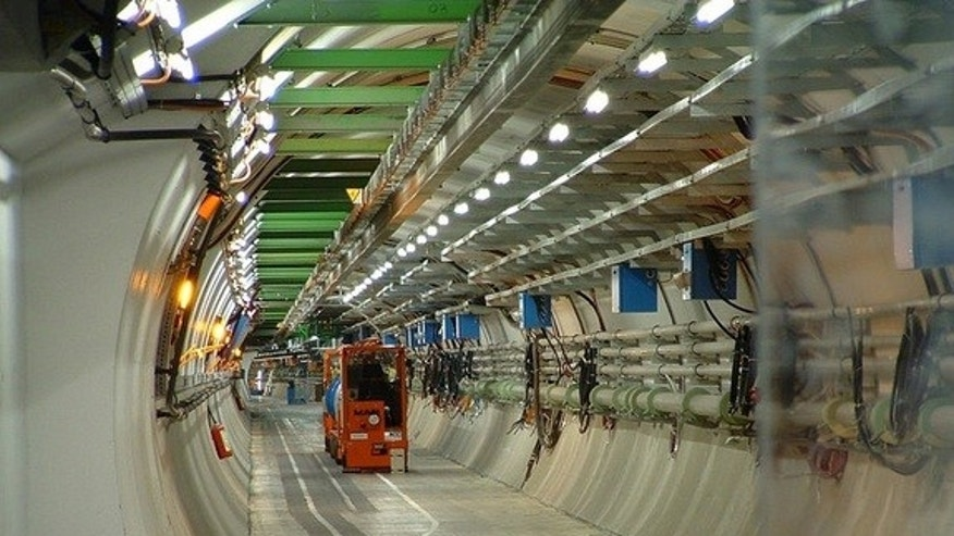 The Large Hadron Collider at the CERN research center.