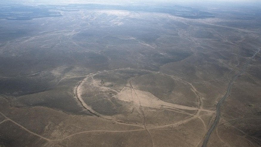 The Big Circle called J1 is about 390 meters (1,280 feet) in diameter, with an open area created by bulldozing in its interior.