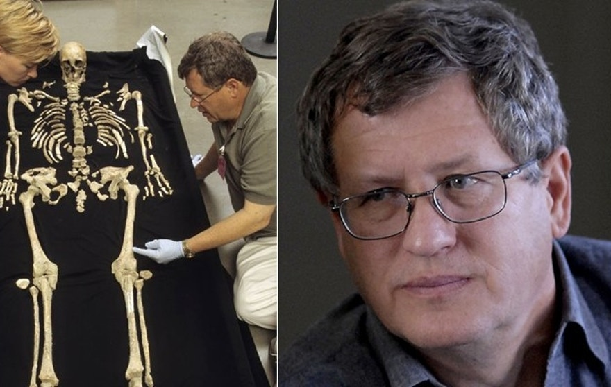 Owsley, (r.), says the nearly intact skeleton changed what we knew about man's first arrival in America. (Smithsonian)