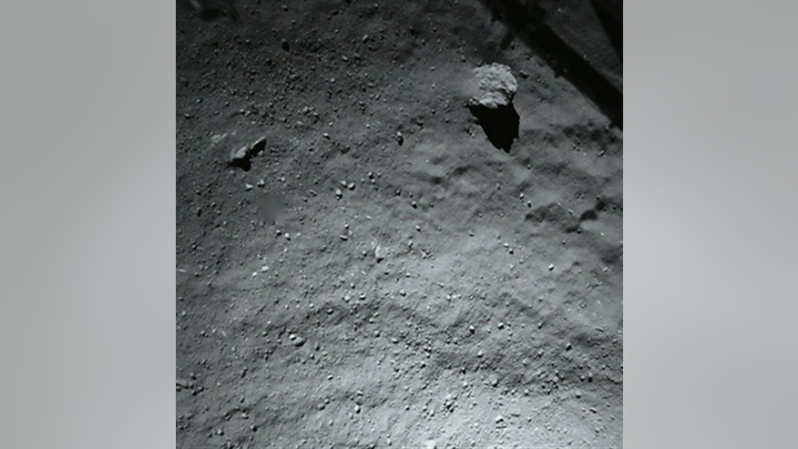 Image taken by Philae's ROLIS imager when it was about 131 feet above the comet's surface.