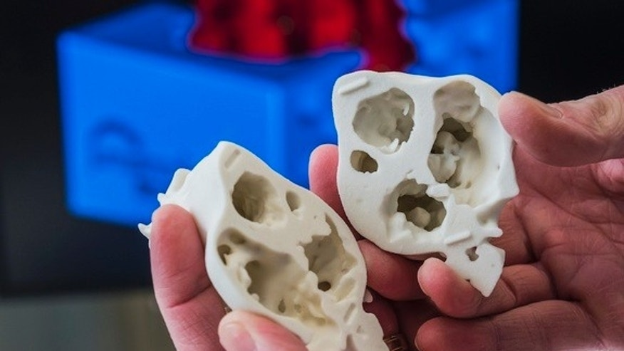 A close-up of the 3D printed heart