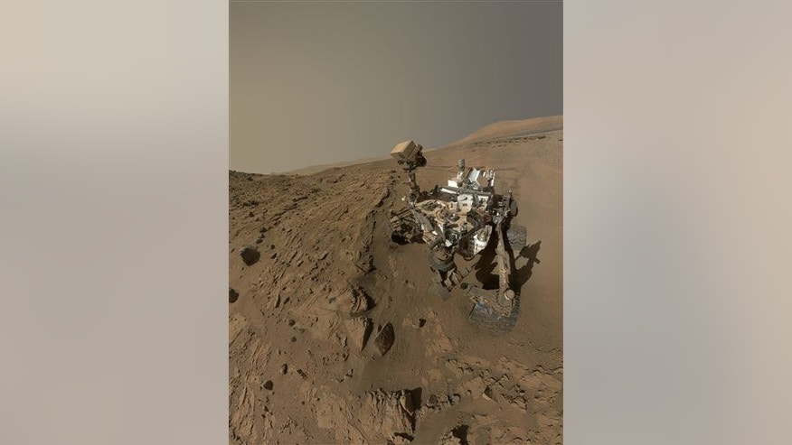 NASA's Curiosity Mars rover self-portrait. The rover is now at Mount Sharp, its long-term science destination since landing two years.