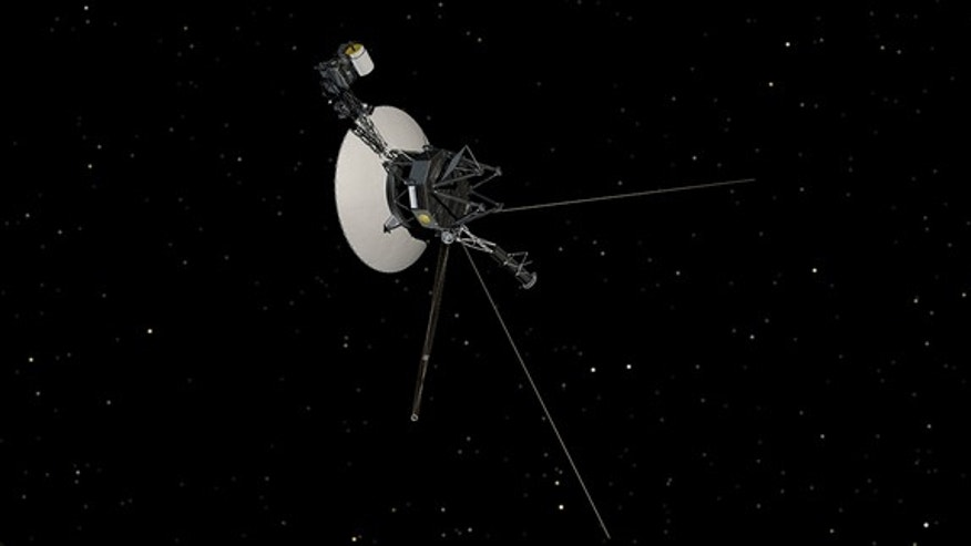 An artist's conception of NASA's Voyager spacecraft.