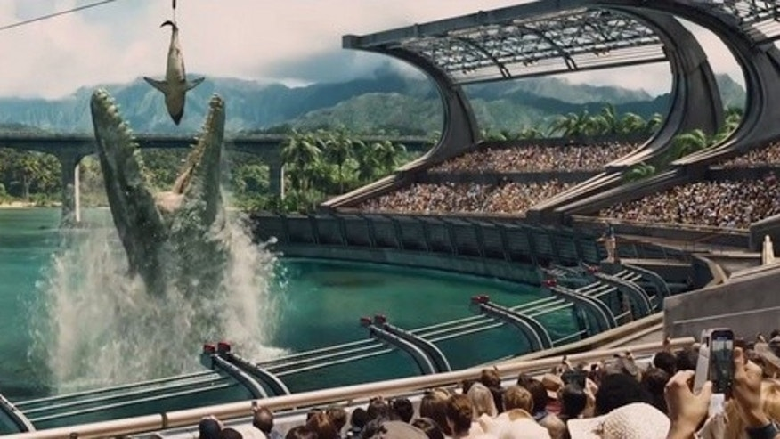 """Jurassic World"" features dozens of dinosaurs making ferocious sounds."