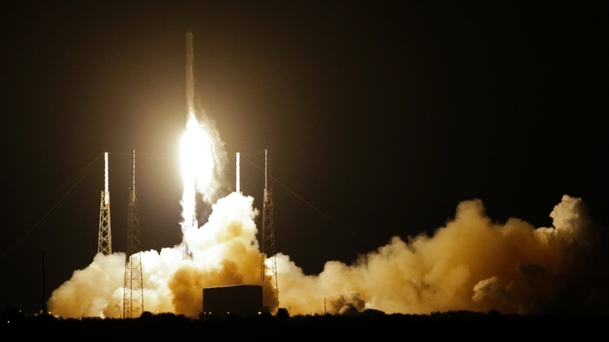 Jan. 10, 2015: The Falcon 9 SpaceX rocket lifts off from Space Launch Complex 40 at the Cape Canaveral Air Force Station in Cape Canaveral, Fla.
