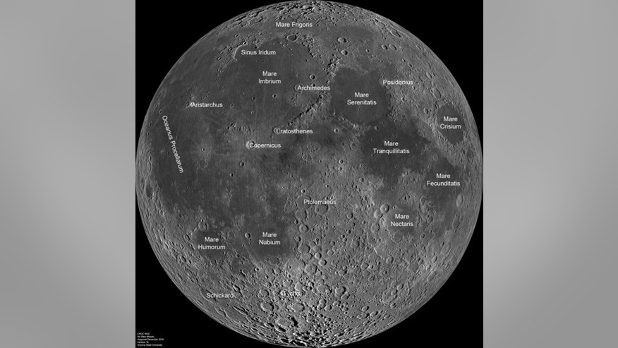 The moon offers a wealth of resources that may fuel a near-Earth/moon industrial infrastructure. This mosaic view of the near side of Earth's moon comes from NASA's Lunar Reconnaissance Orbiter's camera system, the LROC Wide Angle Camera (WAC).