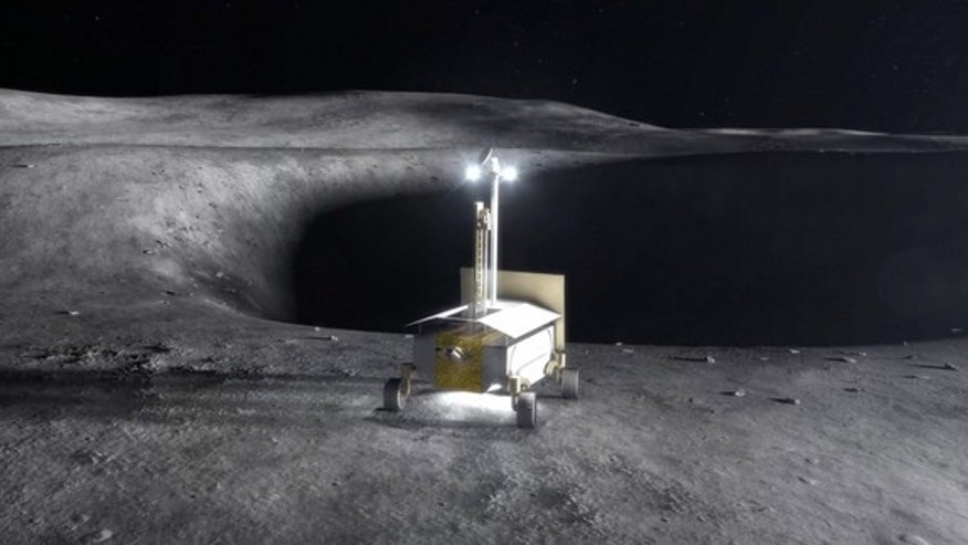 In coming years, government-sponsored and private-sector spacecraft will land on the moon. This image shows a resource prospector carrying a Regolith and Environment Science and Oxygen and Lunar Volatile Extraction (RESOLVE) experiment. The int