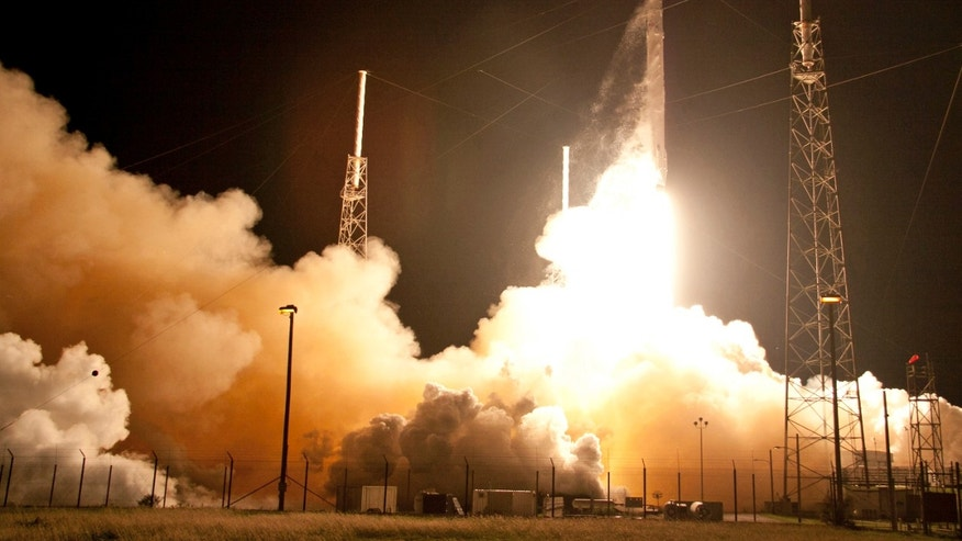 The Falcon 9 SpaceX rocket lifts off from Space Launch Complex 40 at the Cape Canaveral Air Force Station in Cape Canaveral, Fla., Saturday, Jan. 10, 2015.