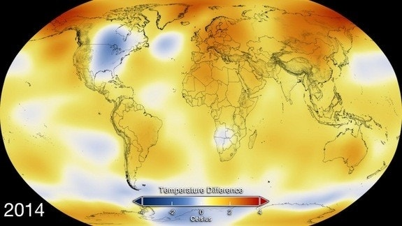 2014 was Earth's hottest year on record
