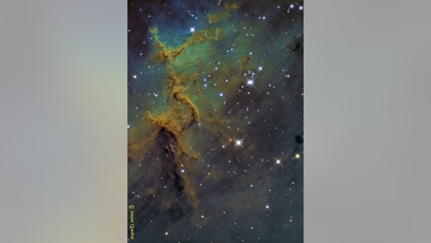 Astrophotographer Jaspal Chadha took this stunning image of the core of the Heart Nebula over four nights in December 2014 and January 2015.of London