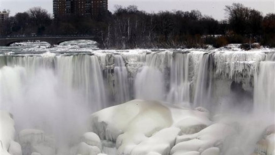 Parts of the falls freeze during cold winters but it never freezes solid.