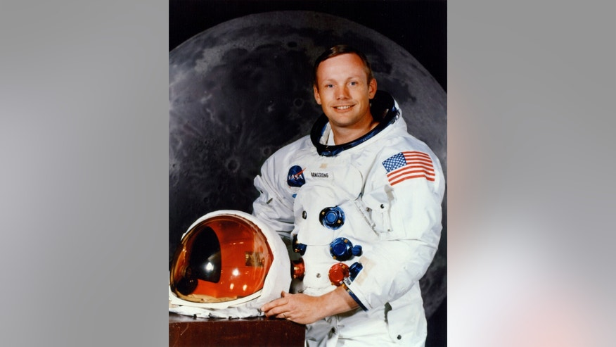 Apollo 11 astronaut Neil A. Armstrong's official portrait is seen in this July 1969 handout photo courtesy of NASA.