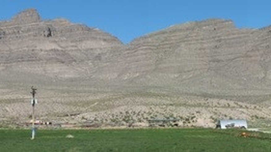 Alamo impact crater rocks exposed near Hiko, Nevada.