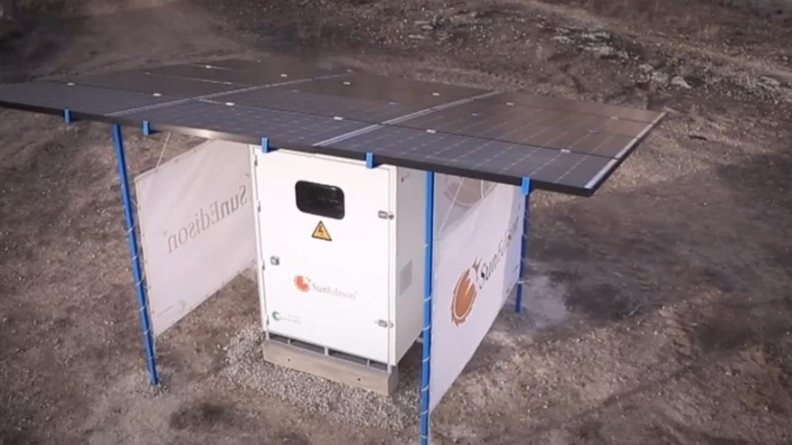 YouTube screenshot of SunEdison Outdoor Microstation
