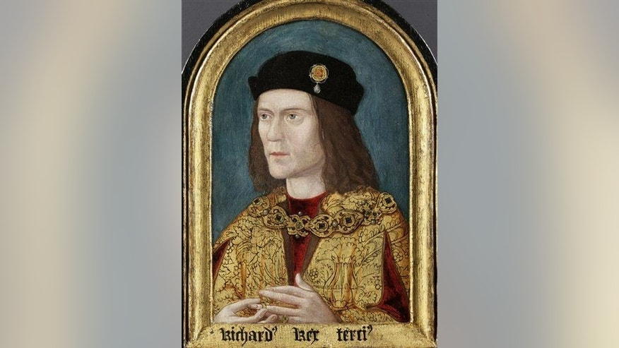 A portrait of Britain's King Richard III.