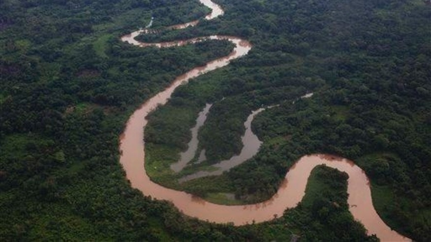 An aerial view of the Mosquitia region near the remote community of Ahuas, Honduras, Monday, May 21, 2012.