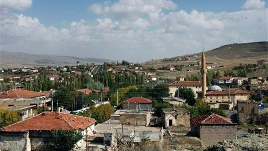 A view of a village in Nevsehir province, Turkey; that's the province where the new city is located.