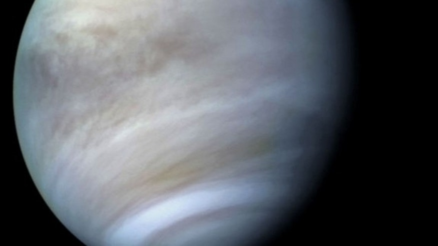 The surface of Venus? Ninety Earth atmopsheres of spacecraft-crushing pressure, with temperatures hovering around 460 degrees Celsius — more than hot enough to make gasoline spontaneously combust. But at VAMP's 50km cruising altitude, it's 15 d