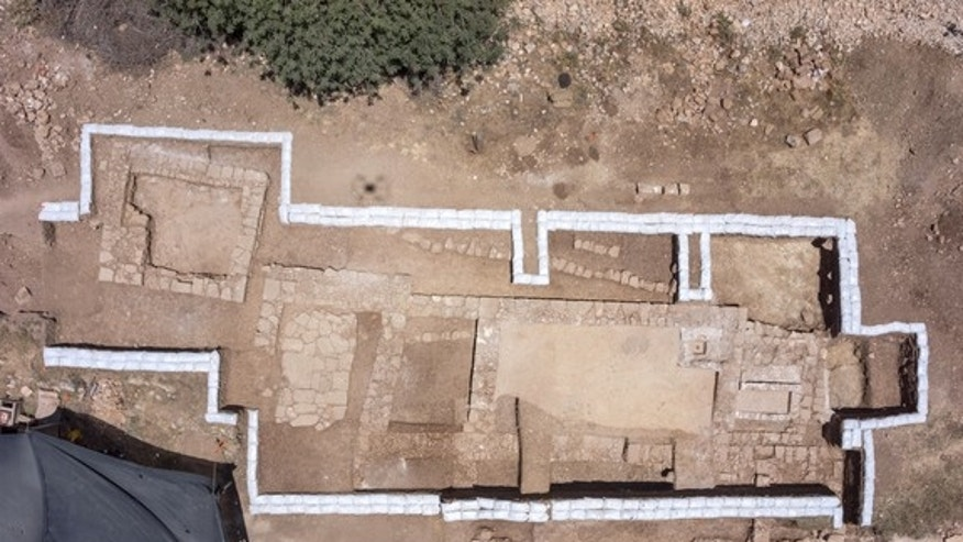 Aerial view of the excavation in Jerusalem.