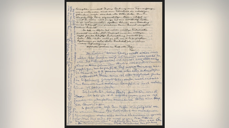 Einstein's personal letters auctioned for more than ...