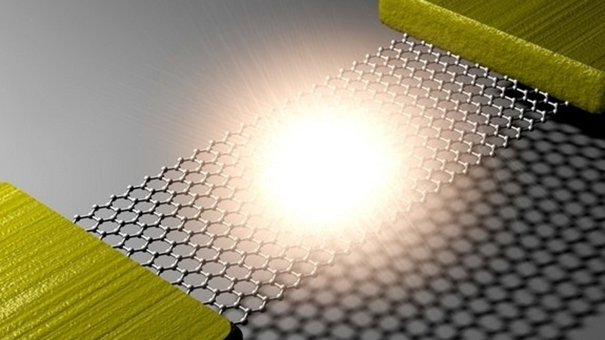 When a current was run through strips of graphene that were placed across a trench of silicon, the result was light emission.