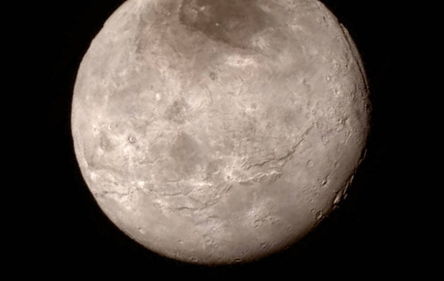 Charon image from New Horizons' Long Range Reconnaissance Imager (LORRI).