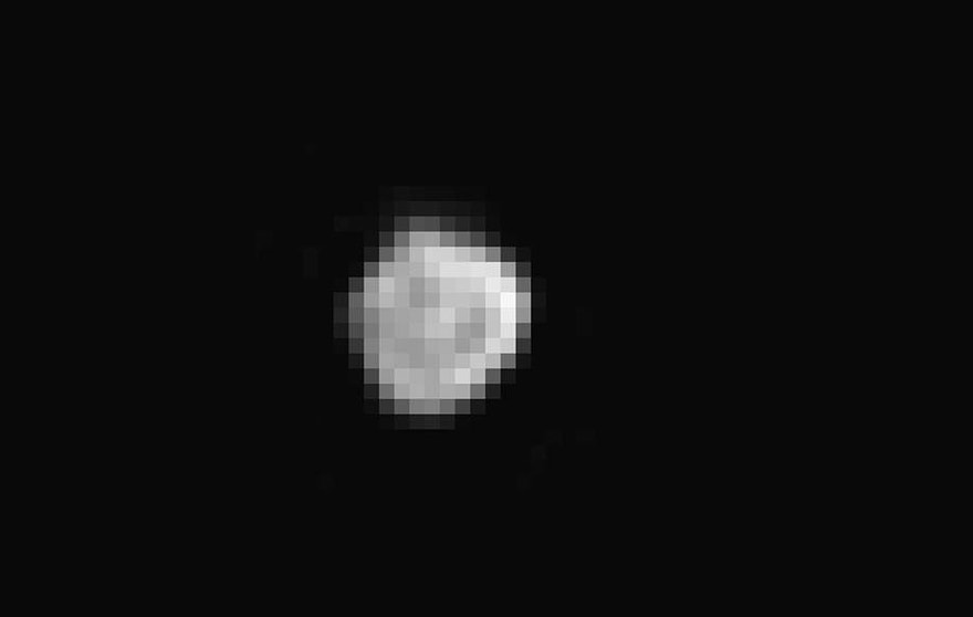 New Horizons' Long Range Reconnaissance Imager captured this image of Pluto's small satellite Nix