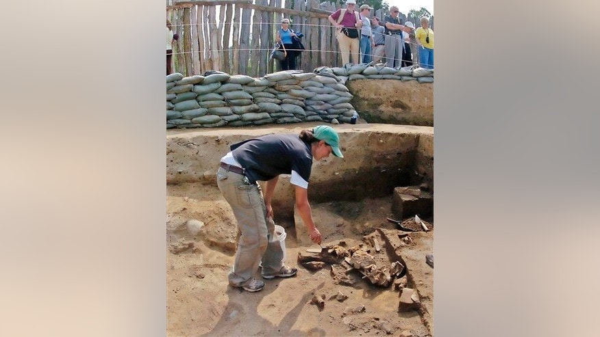 An archaeologist at work.