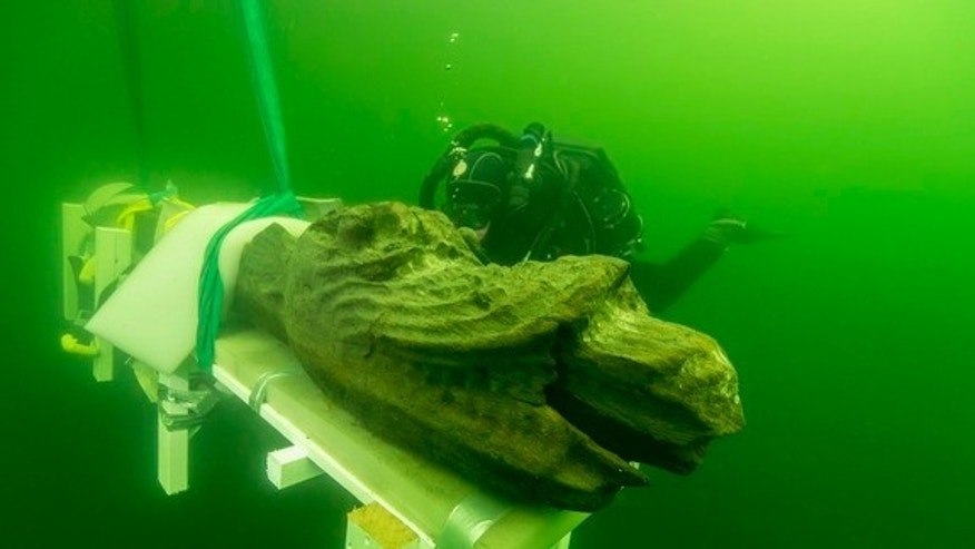 "Divers recently retrieved the monster-headed figurehead of a Danish warship known as the ""Gribshunden,"" or ""grip dog,"" that sank beneath the waves in 1495 off the coast of  Sweden. The ship may be the only preserved warship from the time period"