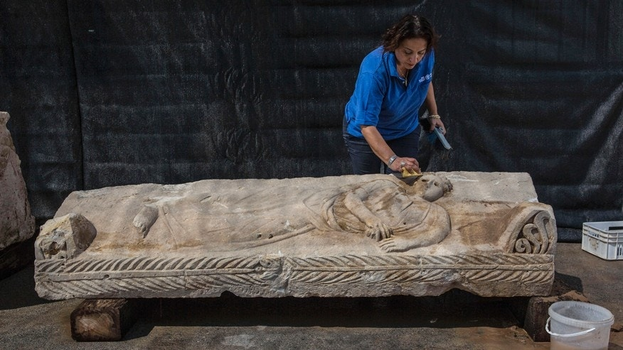 Rare ancient sarcophagus discovered in Israel