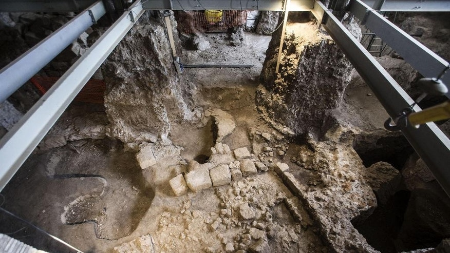 Sept. 9, 2015: A partial view of a 6th-century B.C. residence that was discovered in Rome.