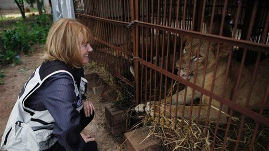 A file photo of Jan Creamer of Animal Defenders International.