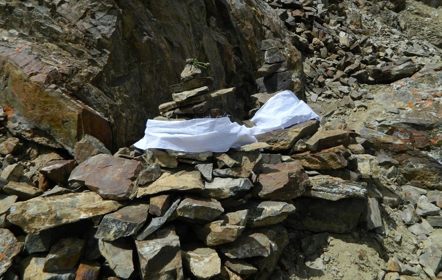 The bodies located by the team will remain on the mountain under makeshift memorials, but DNA testing will help their loved ones find peace knowing they received a burial. (Sequoia Di Angelo)