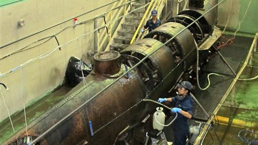 Hull of Confederate sub, first in history to sink enemy ...