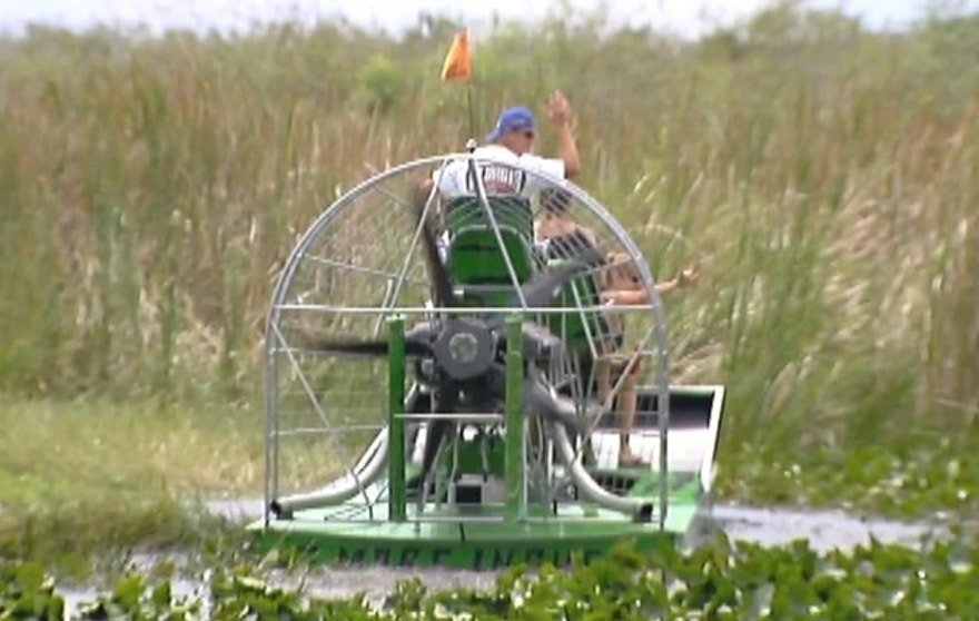 Into the sunset? The legendary airboats of Florida's 'gladesmen' will soon be banned from the Everglades.
