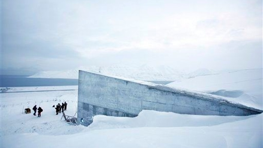 The Svalbard Global Seed Vault is seen Feb. 25, 2008 near Longyearbyen, Norway.