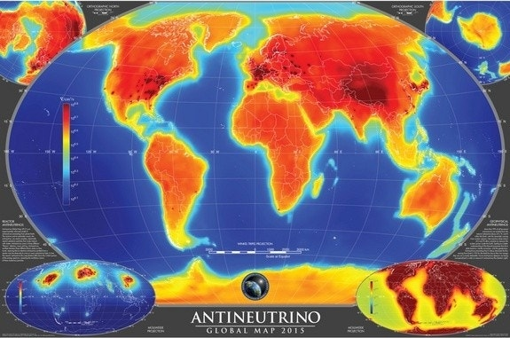Map reveals ghostly antineutrinos lurking within Earth