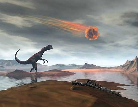 Double catastrophe caused demise of dinosaurs, study suggests