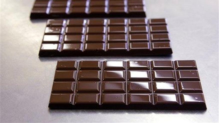 Dark chocolate bars.