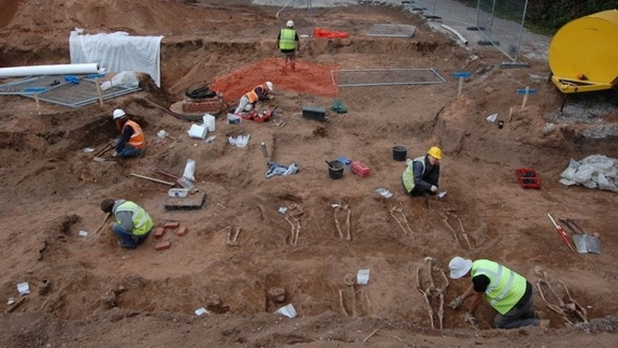 Archaeologists found the shallow graves during a construction project in August. The graves are relatively shallow — just about 1.6 feet (0.5 meters) below ground.