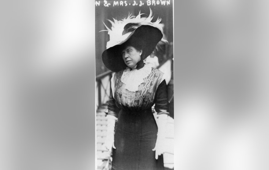 "Mrs. James J. ""Molly"" Brown, a survivor of the Titanic, aboard the Carpathia, April 1912."