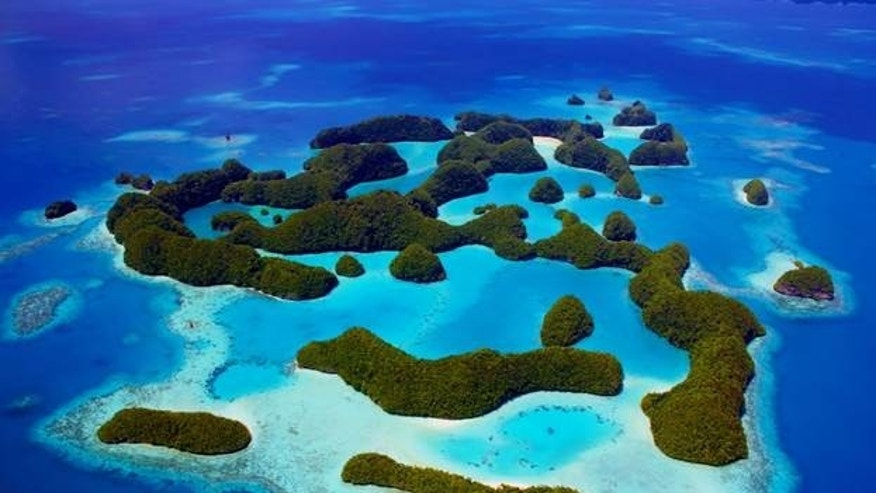 Palau's Rock Islands (Photo by Matt Rand, The Pew Charitable Trusts).