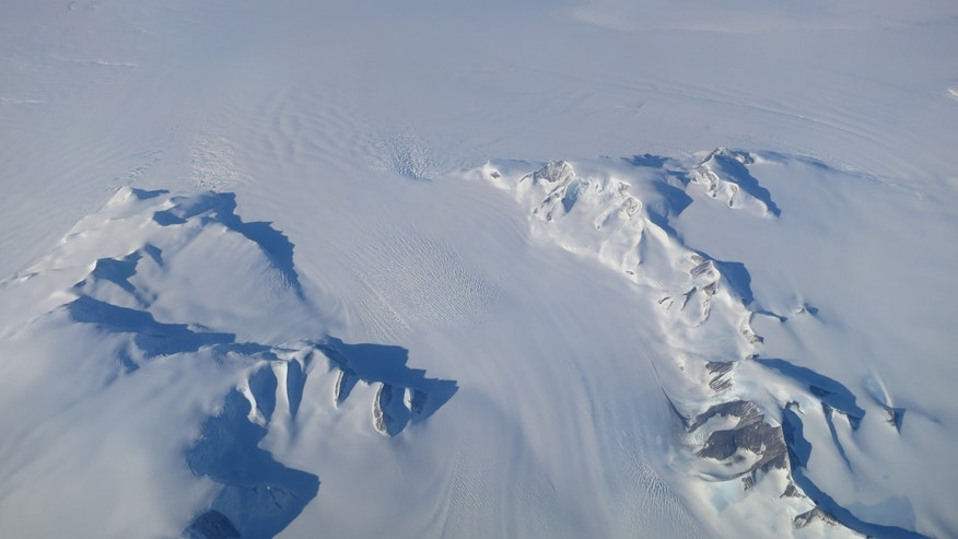 A new NASA study says that Antarctica is overall accumulating ice. Still, areas of the continent, like the Antarctic Peninsula photographed above, have increased their mass loss in the last decades. (NASA's Operation IceBridge)