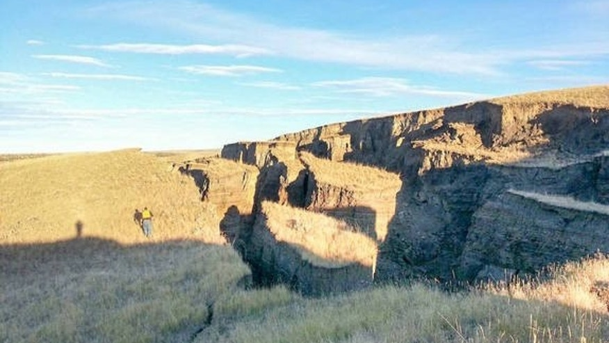 The large gash that mysteriously appeared in northern central Wyoming. (SNS Outfitters and Guides.)