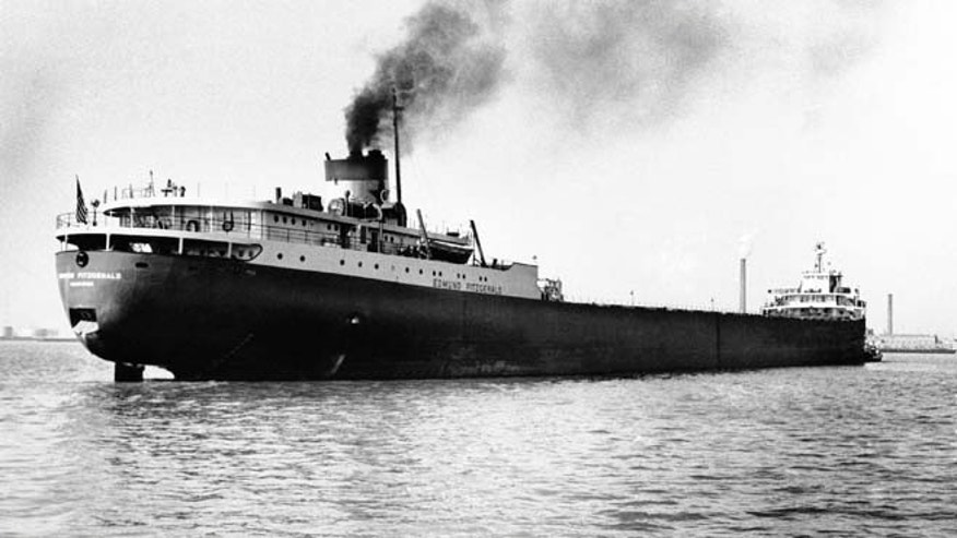 FILE 1959: The Great Lakes freighter Edmund Fitzgerald, which disappeared Nov. 10, 1975, in a storm on Lake Superior.