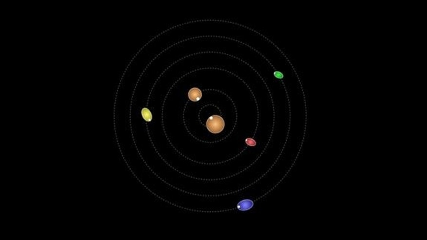 This animation of the Pluto system shows how the dwarf planet's four smallest moons are not rotationally locked to their parent body