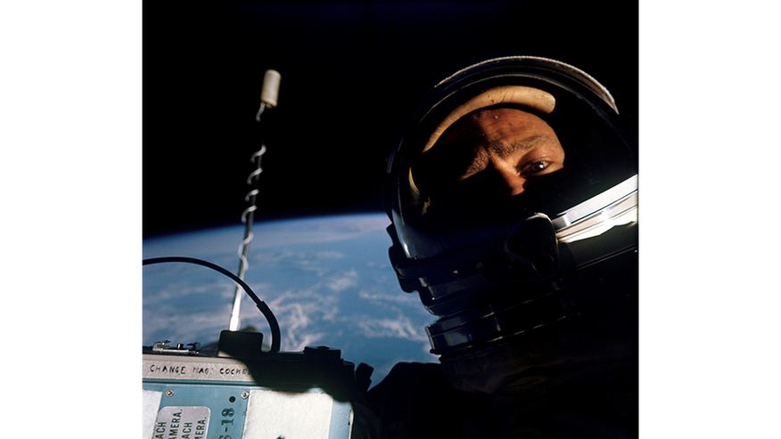 Buzz Aldrin commemorates his first ever spacewalk with historic selfie