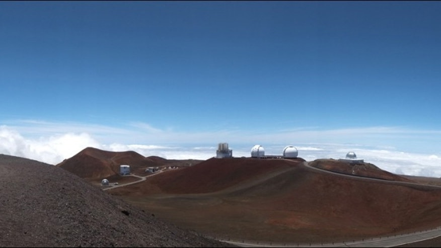 Panorama of the summit of Mauna Kea, which hosts the Subuaru telescope (Subaru Telescope, National Astronomical Observatory of Japan)